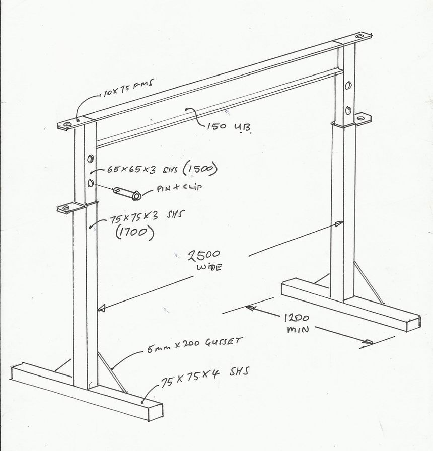 A frame engine hoist plans pictures to pin on pinterest A frame blueprints